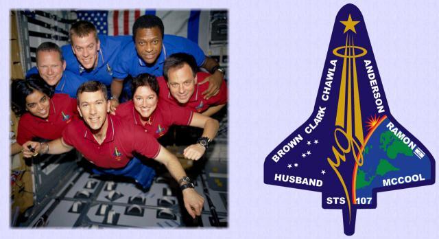 Die Crew der verunglückten Raumfähre ›Columbia‹