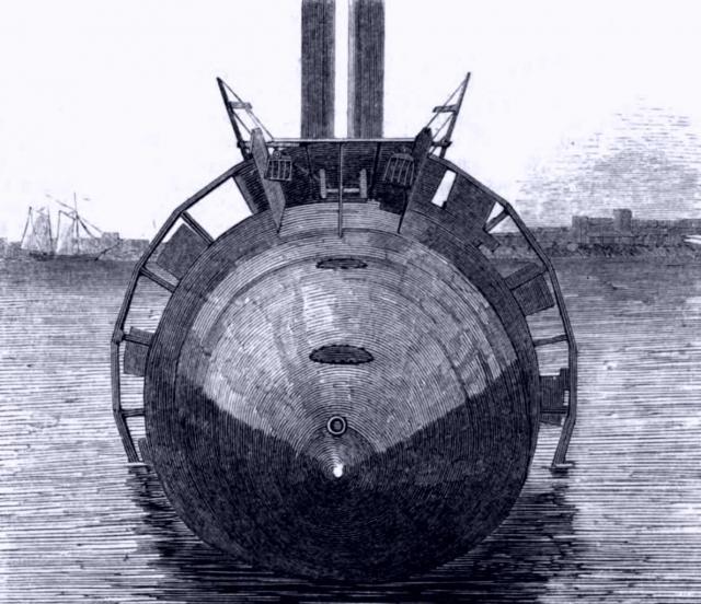 Hintere Ansicht von Winans' Dampfschiff.
