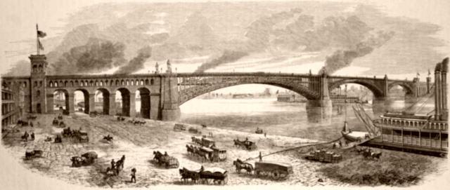 Brücke über den Mississippi bei St. Louis