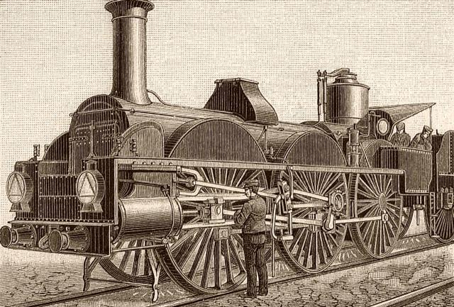 Riesenlokomotive von Estrade
