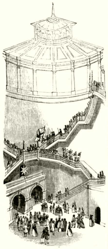 Treppe zum Tunneleingang