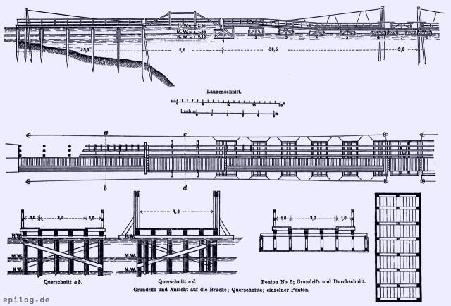 Pontonbrücke über den Stößensee