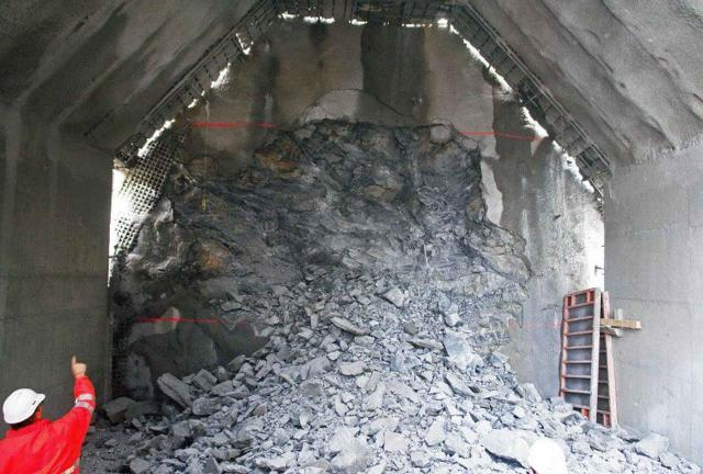 Sprengvortrieb im Ceneri-Basistunnel