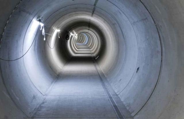 Tunnel der Energiezentrale Bern