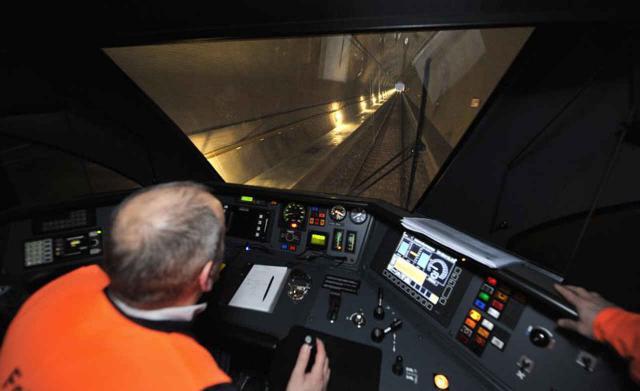 Versuchsbetrieb im Gotthard-Basistunnel