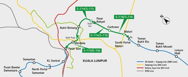 Tunnel in Kuala Lumpur