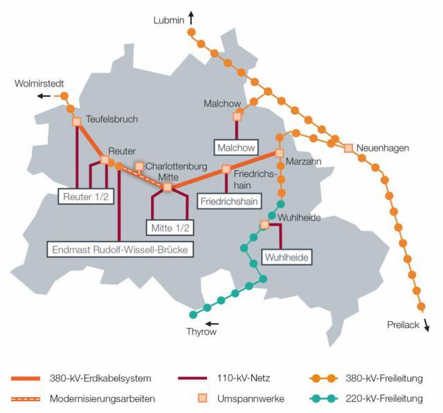 Hochspannungsnetz Berlin