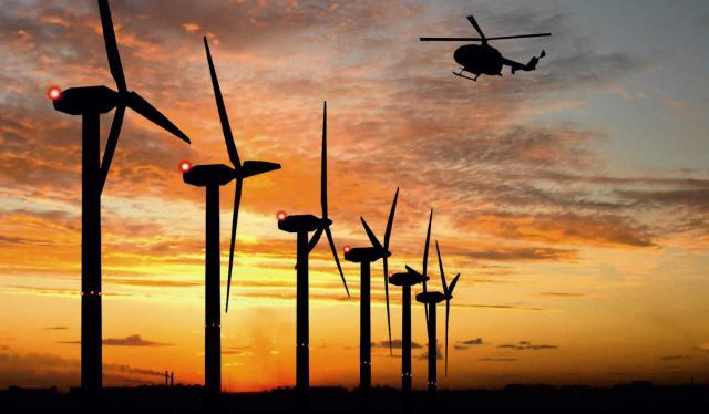 Befeuerung von Windkraftanlagen