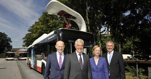 Batterie-Stadtbusse für Hamburg