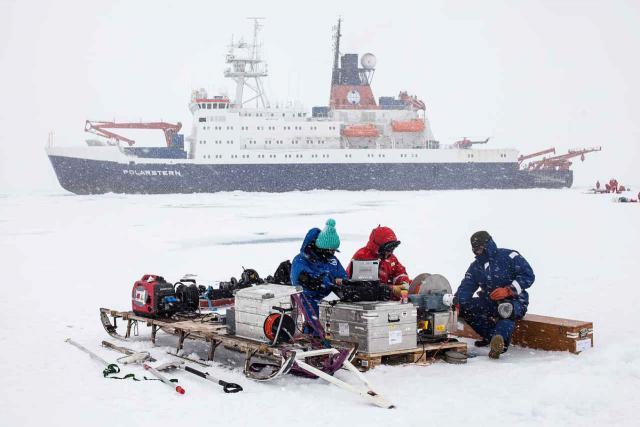Messungen auf dem arktischen Meereis