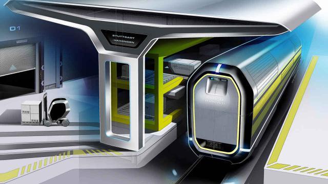 NGT Cargo-Einzelwagen und Belademodul für den Nahbereich