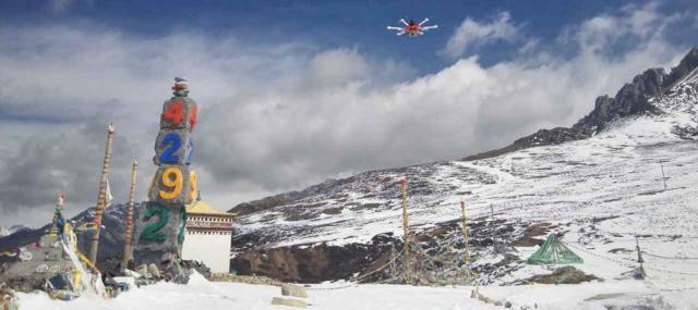Wasserstoffbetriebene Drohne