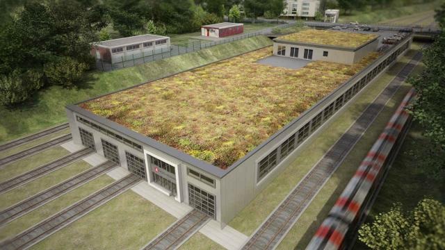 Neue U-Bahn-Werkstatt