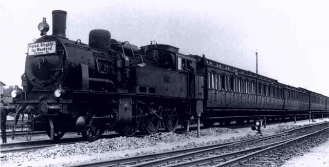 Zug auf dem Südring 1929