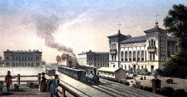 Bahnhof in Köthen um 1850