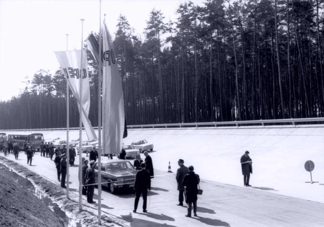 Opel-Prüffeld in Dudenhofen 1966