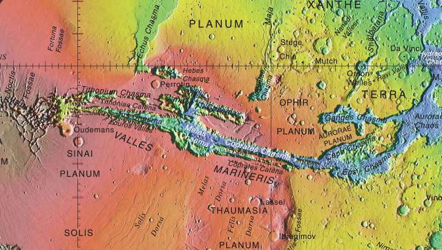 Das Talsystem der Valles Marineris