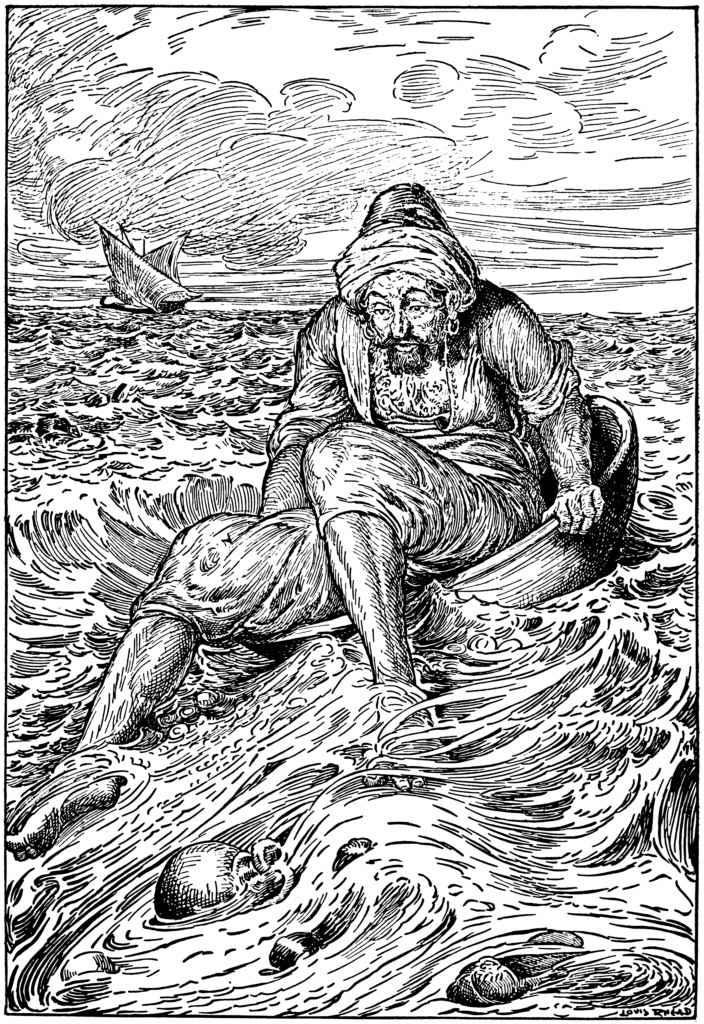 Der Kapitän spannte die Segel
