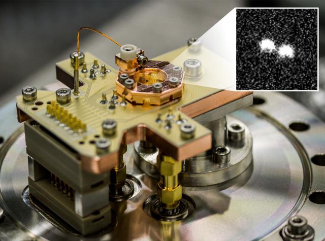 Ionenfalle Quantencomputer