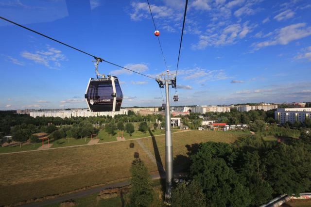 Die Kabinenbahn auf der Internationalen Gartenausstellung in Berlin