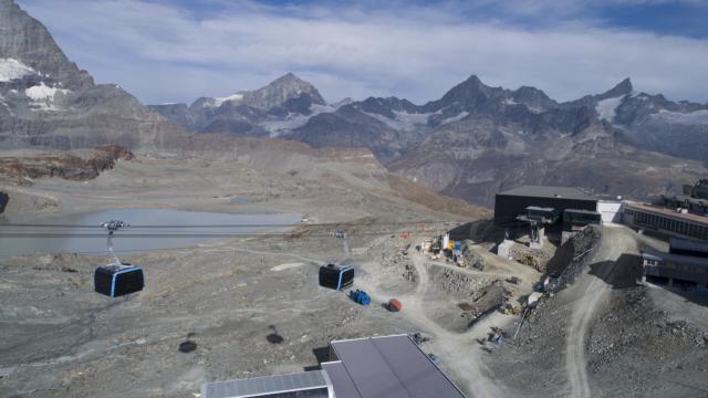 Die höchste 3S-Bahn der Welt am Klein Matterhorn