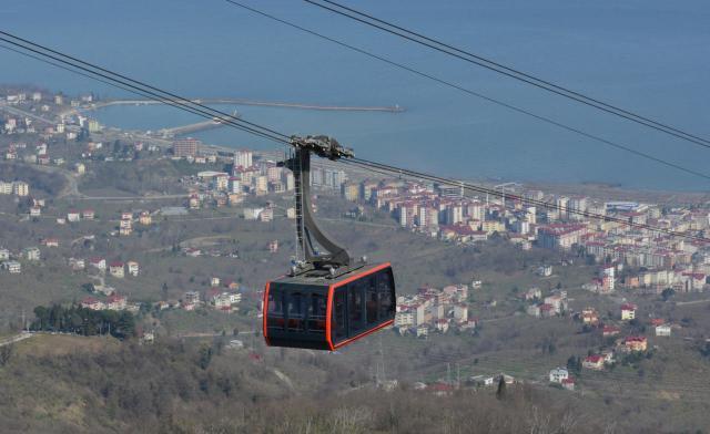Pendelbahn im türkischen Tourismusort Beşikdüzü