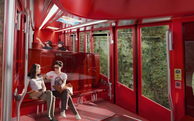 Standseilbahn Funicular del Tibidabo in Barcelona