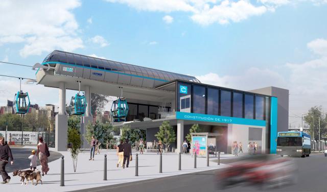 U-Bahn und Seilbahn in Mexiko-Stadt