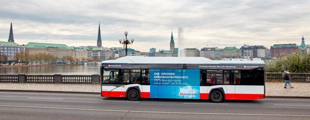 Emissionsfreie Busse für Hamburg