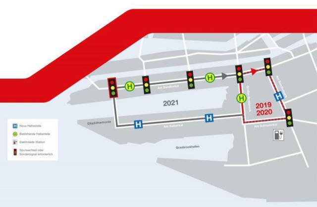 Streckennetz für Heat in Hamburg