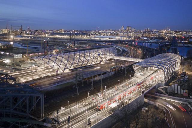 Der neuer U-Bahnhof Elbbrücken in Hamburg