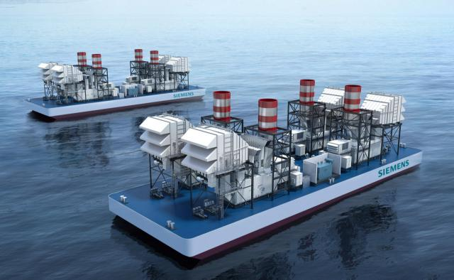 Zwei schwimmende SeaFloat-Kraftwerke