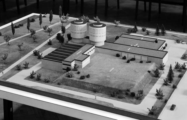 Modell des zukünftigen Wasserwerks