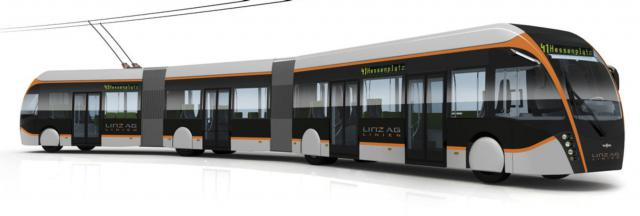 Elektrische Trambusse für Linz