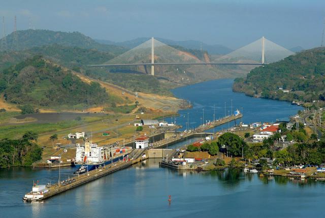 Die jetzigen Schleusen am Panamakanal