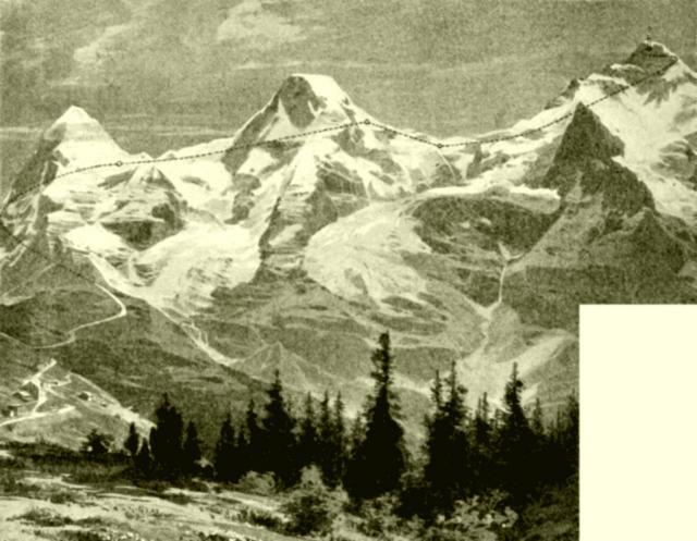 Guyer-Zellers Projekt einer Jungfraubahn