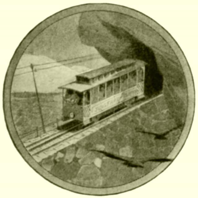 Ein Wagen der projektierten Jungfraubahn