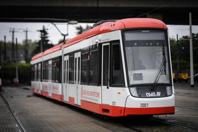 Neue Flexity-Straßenbahn