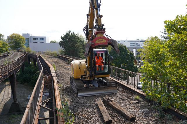 Baustart Siemensbahn