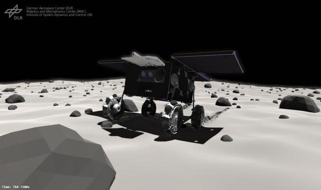 Animation des fahrenden MMX-Rovers auf Phobos