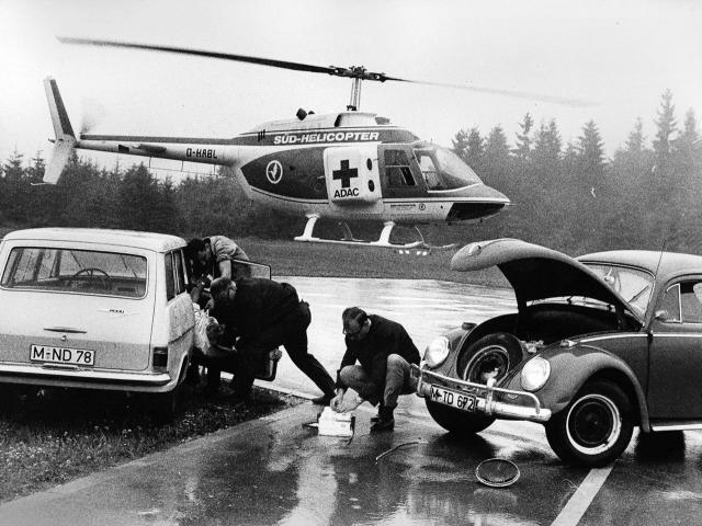 Probelauf zur Luftrettung im Jahr 1969