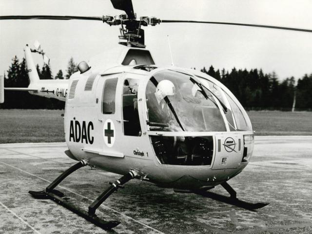 Start mit ADAC Rettungshubschrauber Christoph 1