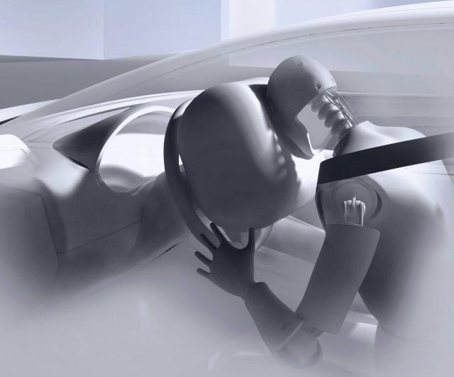 Binnen 30 Millisekunden ist der Airbag prall aufgeblasen