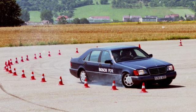 Schleuderbewegungen des Fahrzeugs