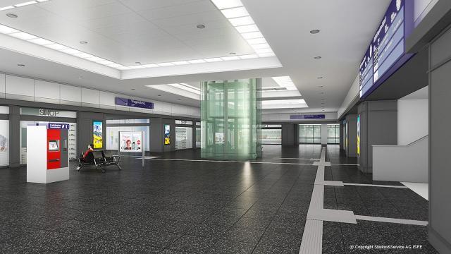 Die Fernbahnhalle des Bahnhofs Berlin Zoologischer Garten nach der Modernisierung
