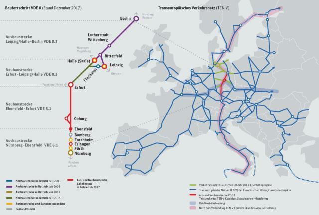 Verkehrsprojekt Deutsche Einheit Nr. 8