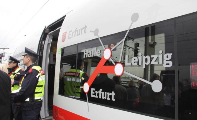 Bahnstrecke zwischen Erfurt und Leipzig/Halle eröffnet