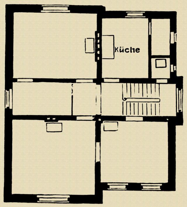 Grundriss vom Erdgeschoss - Landhaus Günther