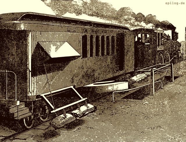 Automatische Postbeförderung auf amerikanischen Eisenbahnen