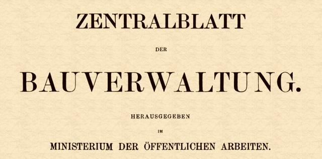 Zentralblatt der Bauverwaltung